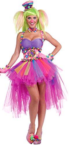 Forum Novelties Women's Circus Sweetie Lulu's Tutu Skirt, Multi, One Size