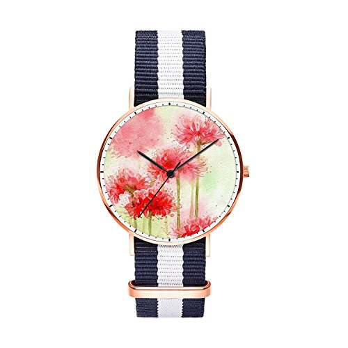 SunbirdsEast Red Spider Lily Watch Nylon Band for Men for sale  Delivered anywhere in Canada