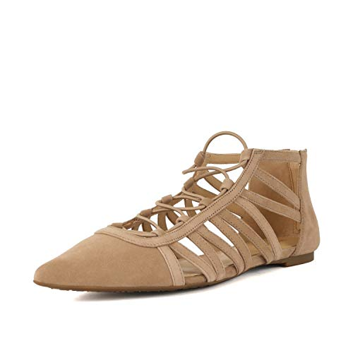 (MICHAEL Michael Kors Womens Clarissa Flat Suede Pointed Toe, Dk Khaki, Size)