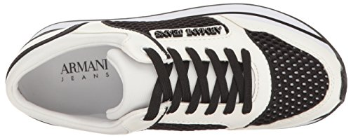 Scarpe Donna ARMANI 925187 7P578 Sneakers Primavera Estate 2017 Bianco nero 39