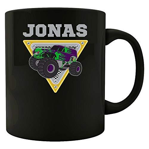 - Monster Truck Birthday Gift with Kids name Jonas Boys Present - Mug