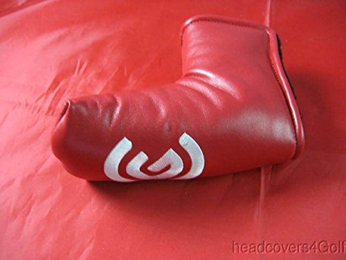 Cleveland Red Leather Blade Putter Headcover Head Cover ()
