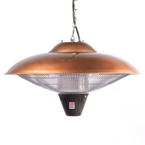 Firesense Hanging Halogen Patio Heater, Finish: copper