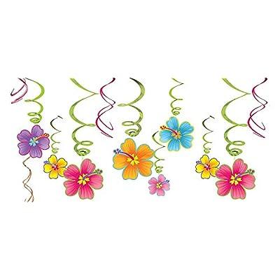 amscan Luau Party Hanging Swirl Decorating Kit: Toys & Games