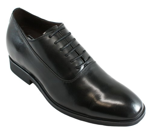 G-CALTO 8082-(3 7,62 cm, altezza Inches)-Tappetto aumentare ascensore-Scarpe da ginnastica con lacci, colore: nero