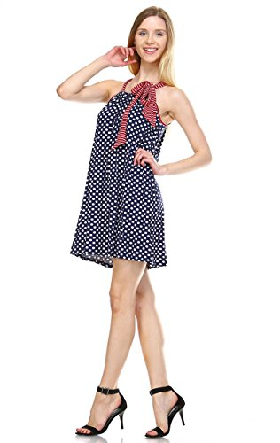 - Zoozie LA Women's American Flag Dress Mini Tunics and Tank Dresses