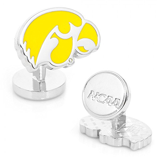 NCAA Palladium University of Iowa Hawkeyes Cufflinks by Cufflinks