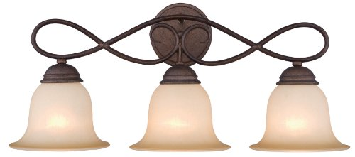 Hardware House 10-1059 Bennington 3-Light Bath or Wall Light, Antique Bronze