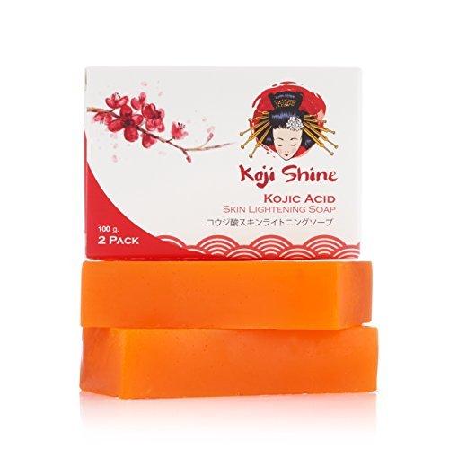 Kojic Acid Skin Lightening Soap (2-Pack / 3.52 oz) - Naturally Brighten, Moisturize Skin Tone & Eliminate Dark Spots, Acne Scars & Remove Freckles - Daily use Facial & Body for All Skin Types