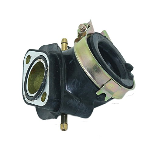 JINGKE Dual Vaccuum Port Carburetor Intake Manifold Pipe for GY6 125cc 150cc Engine Scooter Moped ATV Go Kart ()