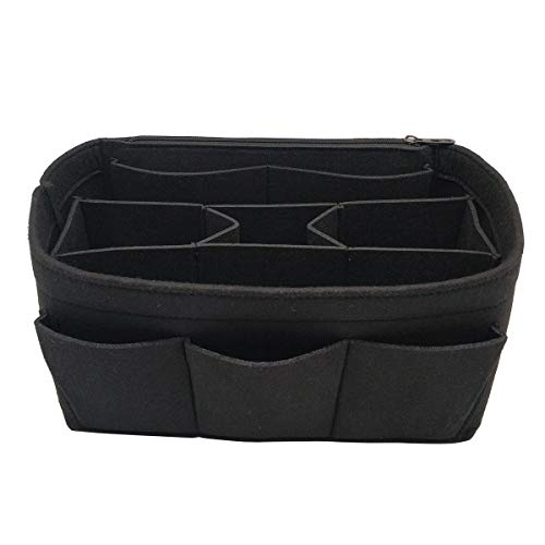 LEXSION Felt Handbag Organizer,Insert purse organizer Fits Speedy Neverfull 8001 Black L