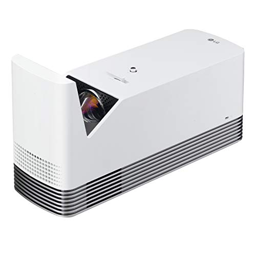 LG HF85LA Ultra Short Throw Laser Smart TV Home Theater CineBeam Projector (2019 Model - Class 1 laser product), White