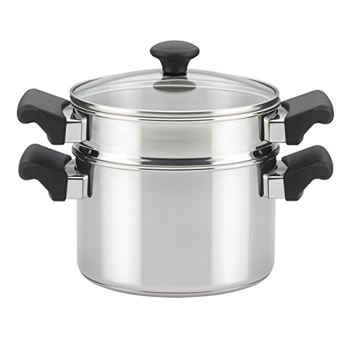 Farberware 70219 Classic Traditions Steamer Set, 3 Quart, Stainless Steel