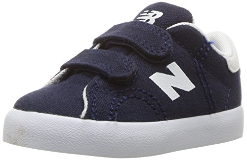 New Balance Boys' Court Hook and Loop Sneaker, Black/Whit, 9.5 Medium US Infant