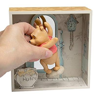 Hallmark (2 Piece Winnie The Pooh Disney Figurines Collectibles Pooh Bear & Tigger Shadow Box Figures Sets