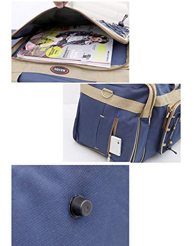 Rimozione per da blu bigpockets extra da di tela grande Ljwlch di portatile viaggio uomo capacità Borsa da large viaggio xv4Awxn