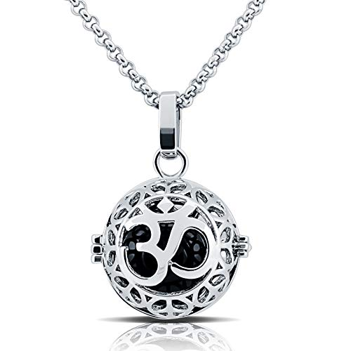 (Naler Mexican Bola Musical Ball Pendant Pregnancy Perfume Necklace Mother Baby Gift 30