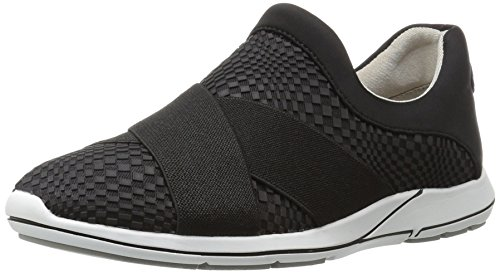 Aerosoles Women's Race Track Fashion Sneaker, Black Fabric, 6.5 M US