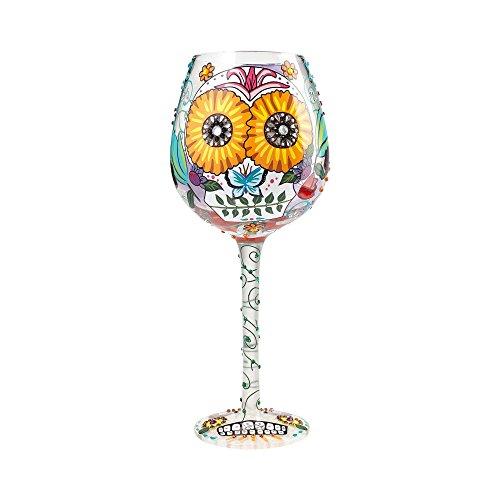 Lolita Seasonal Wine Glass with Westwood Gourmet Bottle Opener (Bling Sugar Skulls)