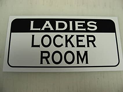 LADIES LOCKER ROOM Retro Vintage Style Metal Sign