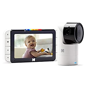 KODAK Cherish C525 Video Baby Monitor with Mobile App – 5″ HD Screen – Hi-res Baby Camera with Remote Tilt, Pan and Zoom Two-Way Audio, Night-Vision, Long Range