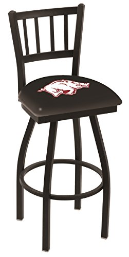 (Arkansas Razorbacks HBS Jail Back High Top Swivel Bar Stool Seat Chair (30