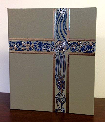 Ceremonial Binder - Gray with Blue Accent and Pewter Foil (1-inch Spine) ()