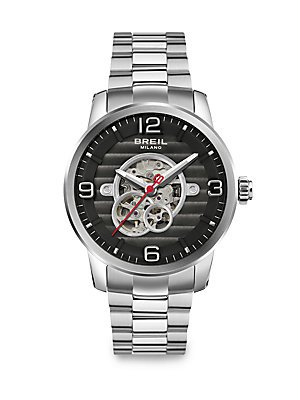 BRAND NEW Breil Men's Miglia Black Dial Stainless Steel Automatic Watch TW1257