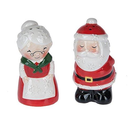 Santa & Mrs. Claus Ceramic Salt & Pepper Shaker Set