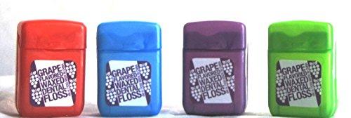 Plak Smacker Grape Flavored Floss 15yd, 4 pack