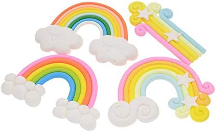 Christmas Toppers For Cupcakes.4pcs Lot Rainbow Cloud Cake Toppers Cupcake Picks For Kids
