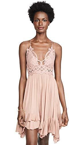 Free People Women's Adella Slip Dress, Rose, Pink, Large