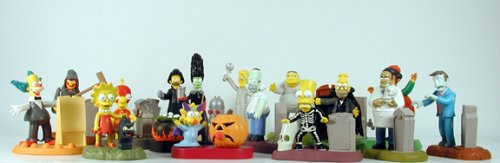 The Simpsons Spooky Light Ups Set of 15 Burger King Figures Individually Bagged -