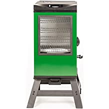 """Masterbuilt 20077116 4-Rack Digital Electric Smoker with Leg Kit Cover and Gloves, 30"""", Green"""