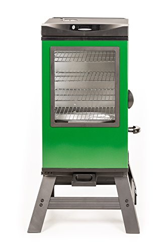 Masterbuilt 20077116 4-Rack Digital Electric Smoker with Leg Kit Cover and Gloves, 30'', Green by Masterbuilt