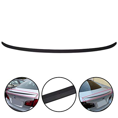 (G-PLUS Trunk Spoiler Wings Fit for BMW 5-Series F10 2011-2016 | M5 Style Unpainted ABS Plastic Material Rear Tail Lip Deck Boot Wing | 2012 2013 2014 2015)