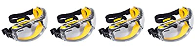 DEWALT DPG82-11 Concealer Clear Anti-Fog Dual Mold Safety Goggle,UhuJHQ 4 Pack (1 Count Clear Lens)