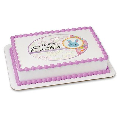 Happy Easter Edible Icing Image for 8 inch round cake