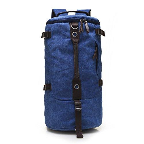 Meoaeo Hombros Doble Edición Grandes Bolsos Para Hombres Bolsos Para Hombres Moda Bolso Bolsa De Lona Verde Del Ejército blue