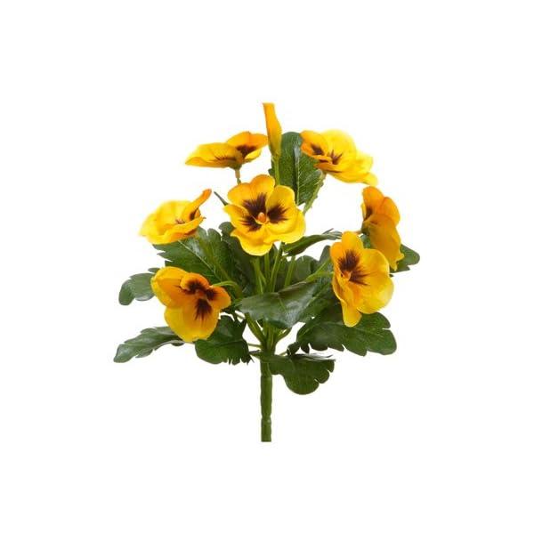 8″ Pansy Bush Yellow (Pack of 12)