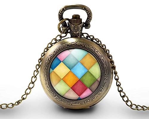 Collar de reloj de bolsillo - cabochon -