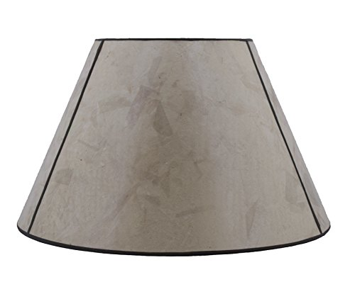 Silver Mica Shade - Urbanest Silver Mica Lampshade, 12-inch Bottom Diameter, 7.5-inch Height, Spider Fitter