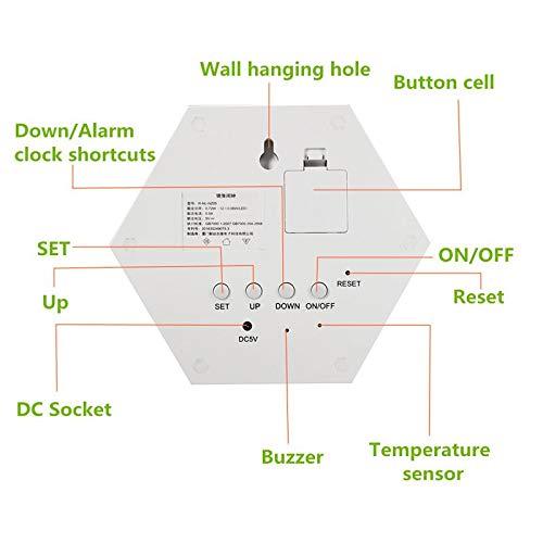 Lámpara LED Espejo De Maquillaje, USB Espejo Alarma Reloj ...