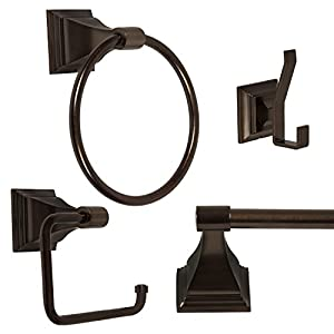 """4-Piece Bathroom Hardware Accessory Set With 24"""" Towel Bar - Oil Rubbed Bronze high-quality"""
