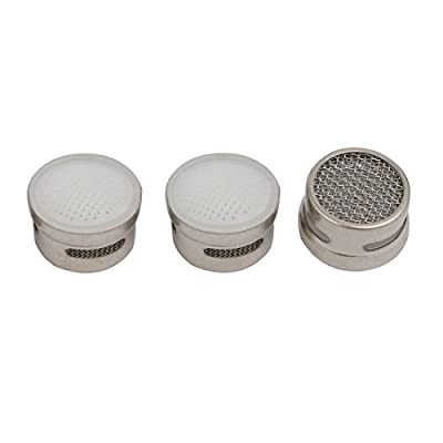 uxcell 17mm Outer Dia Stainless Steel Filtering Core Faucet Aerator Tap Accessory 3pcs