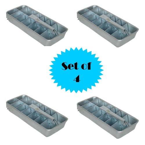 RETRO ALUMINUM ICE CUBE TRAY (SET OF 4) Aluminum Ice Cube Tray