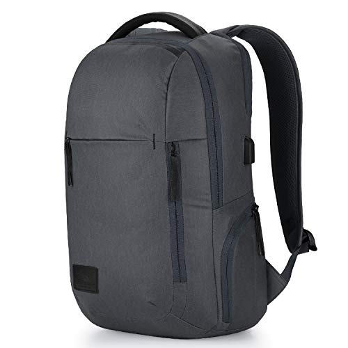 High Sierra Business Proslim USB Pack - Slim Business Backpack for Men or Women - Ideal for Travel - Mercury Heather/Black