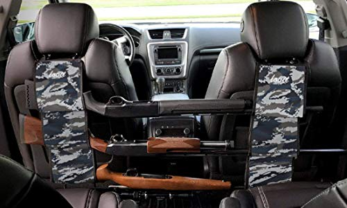 LOVIT Car Concealed Seat Back Gun Rack Hunting Gear Seat Back Gun Sling Holder Universal Shooting Accessories, Fit for Vehicles (Navy camo) (Best Car For Hunting)