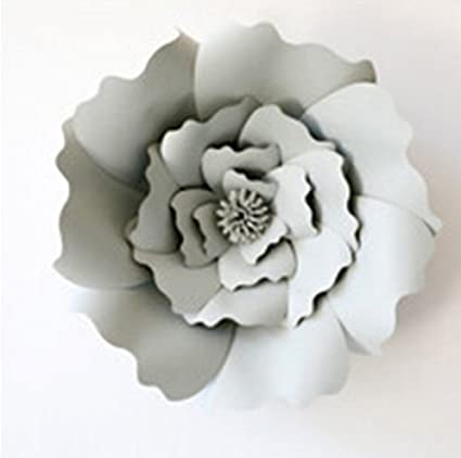 2pcs 20cm Paper Flowers Decorations For Wall Paper Flowers For Backdrop Diy Flower Wall Decor Paper Flowers Artificial Rose Flowers Diy Birthday Party