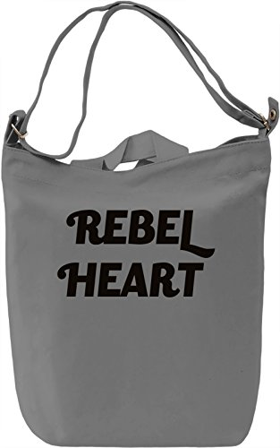Rebel Heart Borsa Giornaliera Canvas Canvas Day Bag| 100% Premium Cotton Canvas| DTG Printing|